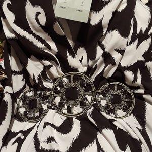 Cashe blouse sz. M rhinestones